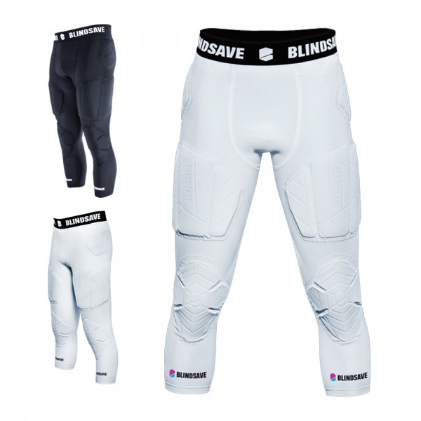 3/4 Tights with Full Protection von BLINDSAVE, 7 Pad Unterhose