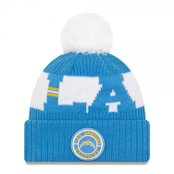 NFL Bobble Knit Wintermütze Team Los Angeles Chargers