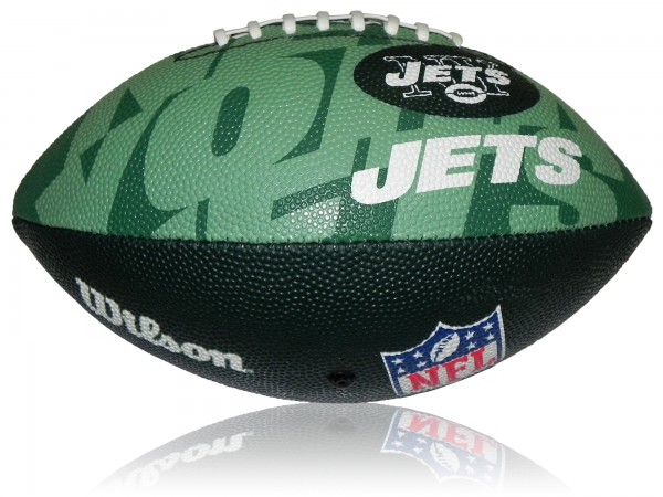 New York Jets Wilson NFL Junior Logo Football