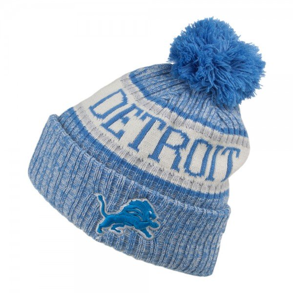NFL Bobble Knit Wintermütze Team Detroit Lions