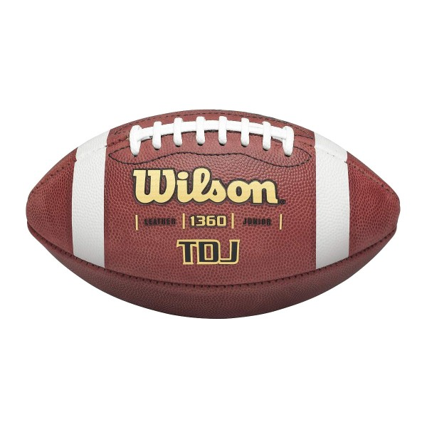 Junior Leder Football, Jugend Spielball, Wilson TDJ - braun