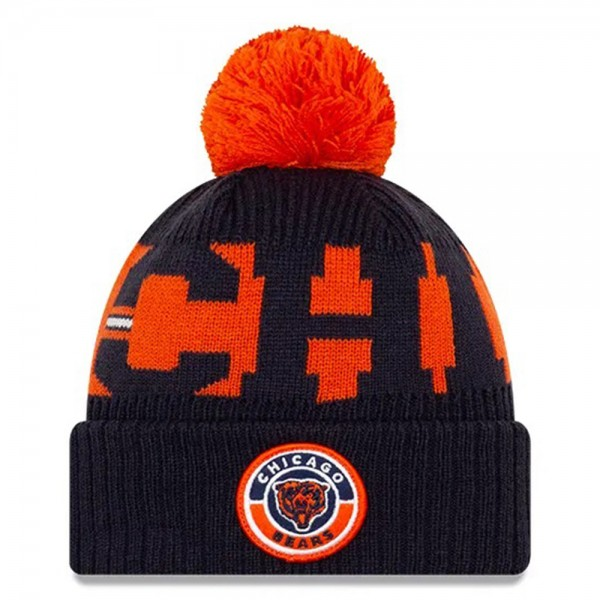NFL Bobble Knit Wintermütze Team Chicago Bears mit Bär-Logo