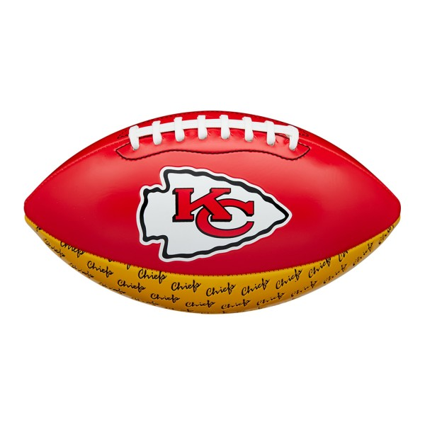 Wilson NFL Peewee Football Team Logo Kansas City Chiefs
