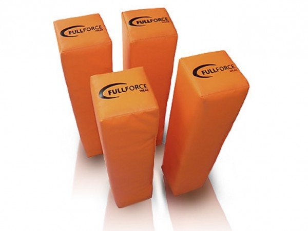 American Football beschwerte End Zone Pylone, orange, (Set of 4)